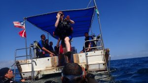 mergulho de batismo