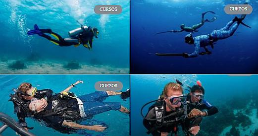 curso de mergulho com cilindro em salvador